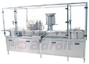 Injectable vial liquid filling machine