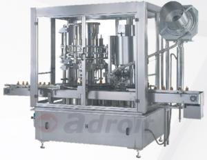 Monoblock rotary piston filling capping
